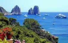 Isle of Capri Italy. Holidays Capri Island. Hotels Isle of Capri, Italy Mediterranean sea travel hotels Capri bed breakfast residence villas self-catering accommodation.