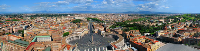 Rome holidays on line art city travel Rome hotels bed breakfast residence self-catering accommodation.